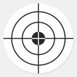 Pegatinas de los ejercicios de tiro etiqueta redonda