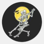 Pegatinas de los esqueletos del baile/sellos del s