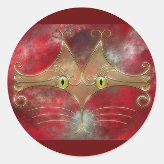 Pegatinas de los Gato-Ojos Pegatina Redonda
