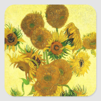 Pegatinas de los girasoles de Van Gogh
