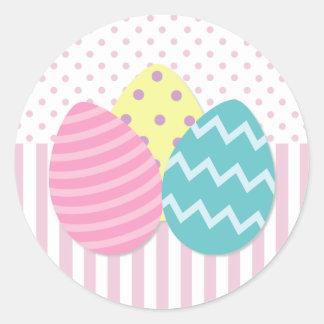 Pegatinas de los huevos de Pascua Etiqueta Redonda