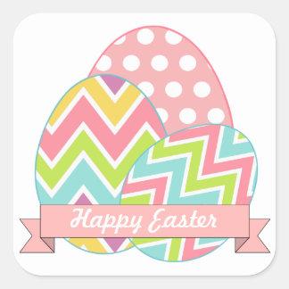 Pegatinas de los huevos de Pascua Pegatina Cuadrada