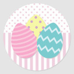 Pegatinas de los huevos de Pascua Pegatina Redonda