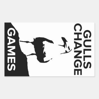 Pegatinas de los juegos del cambio de las gaviotas pegatina rectangular