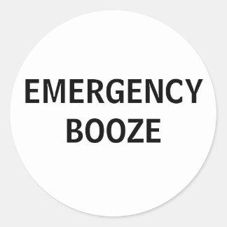 Pegatinas de los licores de la emergencia pegatina redonda