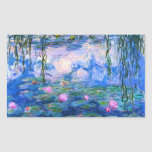 Pegatinas de los lirios de agua de Monet