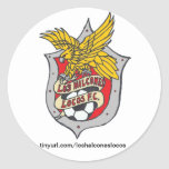 Pegatinas de los locos FC del Los Halcones - Pegatina Redonda