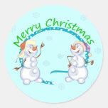 Pegatinas de los muñecos de nieve de las Felices N