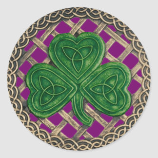 Pegatinas de los nudos del trébol y del Celtic Pegatina Redonda