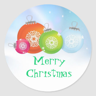 Pegatinas de los ornamentos del navidad pegatina redonda