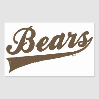 Pegatinas de los osos rectangular pegatinas