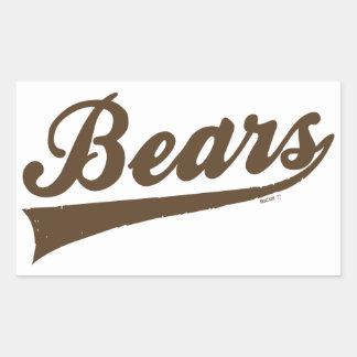 Pegatinas de los osos pegatina rectangular