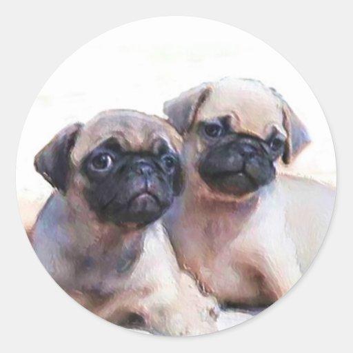 Pegatinas de los perritos del barro amasado
