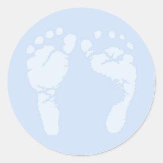 Pegatinas de los pies del bebé pegatina redonda