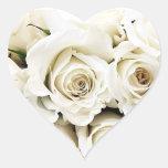 Pegatinas de los rosas blancos