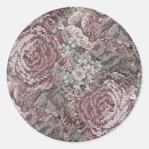 Pegatinas de los rosas pegatina redonda