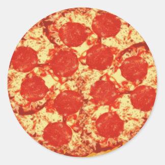 Pegatinas de los salchichones de la pizza etiquetas redondas