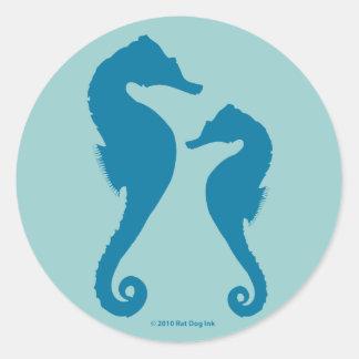 Pegatinas de los Seahorses Pegatinas Redondas