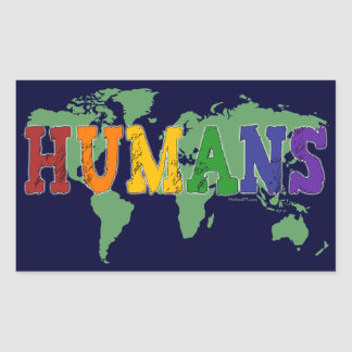 Pegatinas de los seres humanos (gay) rectangular pegatina