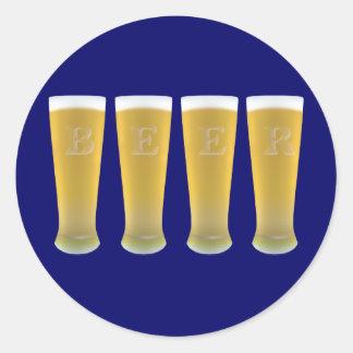 Pegatinas de los vidrios de cerveza pegatina redonda