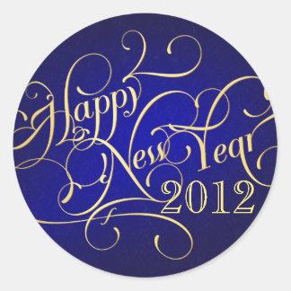 Pegatinas de lujo de la Feliz Año Nuevo - 2012