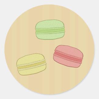 Pegatinas de Macarons Etiquetas Redondas