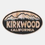 Pegatinas de madera del óvalo de la muestra de Kir