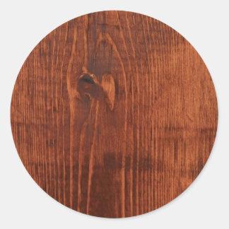 Pegatinas de madera manchados de la mirada