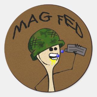 Pegatinas de MagFed Etiquetas Redondas