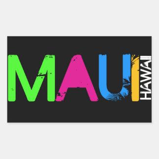 Pegatinas de Maui Pegatina Rectangular
