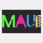 Pegatinas de Maui Rectangular Pegatina