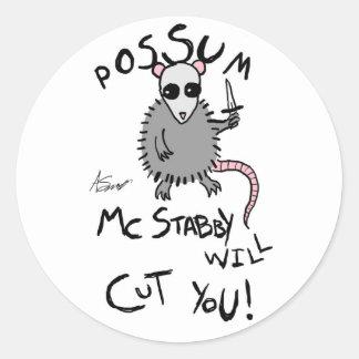 Pegatinas de McStabby del oposum Etiquetas Redondas