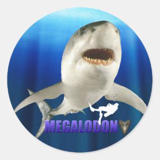 Pegatinas de Megalodon Pegatinas Redondas