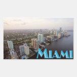 Pegatinas de Miami Pegatina Rectangular