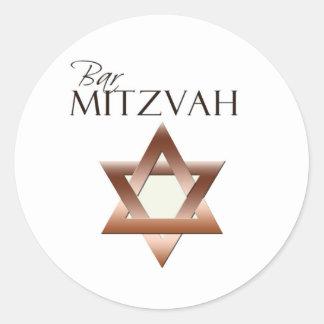 Pegatinas de Mitzvah de la barra Pegatina Redonda