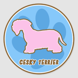 Pegatinas de moda de Cesky Terrier Pegatina Redonda