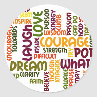 Pegatinas de motivación de las palabras #1 pegatina redonda