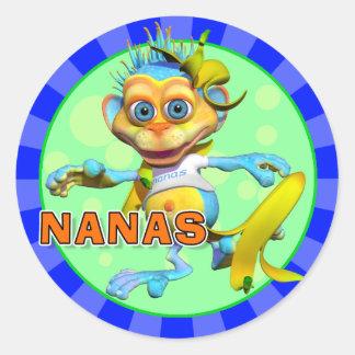 Pegatinas de Nanas de la diversión Etiquetas Redondas