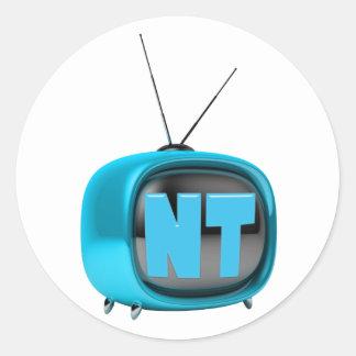 Pegatinas de NanotubeTV Etiquetas Redondas