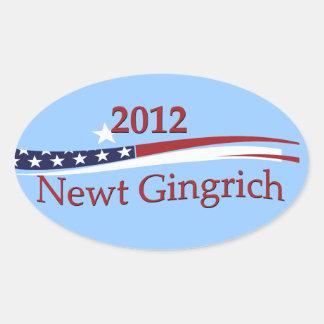 Pegatinas de Newt Gingrich Pegatina Ovalada