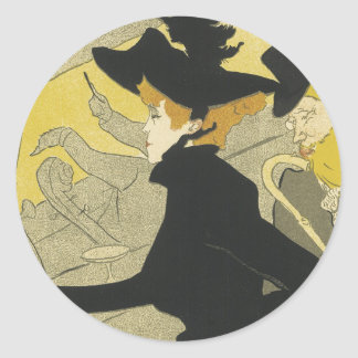 Pegatinas de Nouveau del arte Etiquetas Redondas