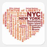 Pegatinas de NYC Colcomanias Cuadradases