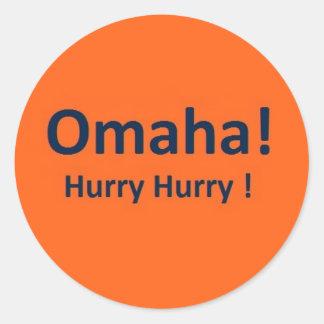 Pegatinas de Omaha para las fans de los caballos Etiquetas Redondas