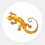 Pegatinas de oro del Gecko