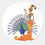 Pegatinas de Oshun Etiquetas Redondas