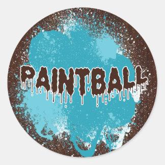 Pegatinas de Paintball Etiqueta Redonda