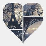 Pegatinas de París del amor Pegatina De Corazon Personalizadas