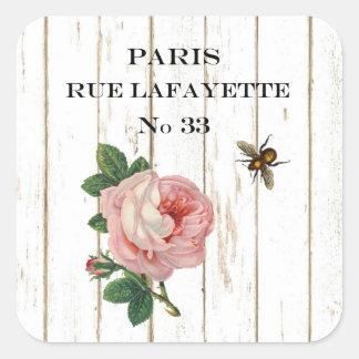 Pegatinas de París del vintage Pegatina Cuadrada