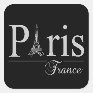Pegatinas de París Francia Calcomania Cuadradas Personalizadas