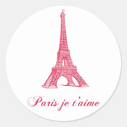 Pegatinas de París Pegatinas Redondas